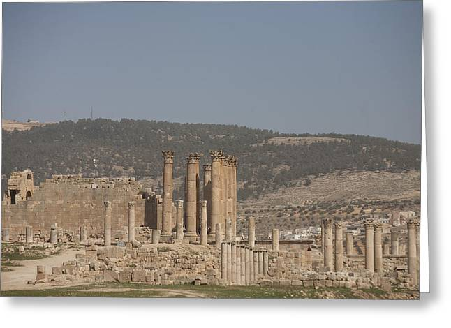 The Temple Of Artemis In The Ruins Greeting Card by Taylor S. Kennedy