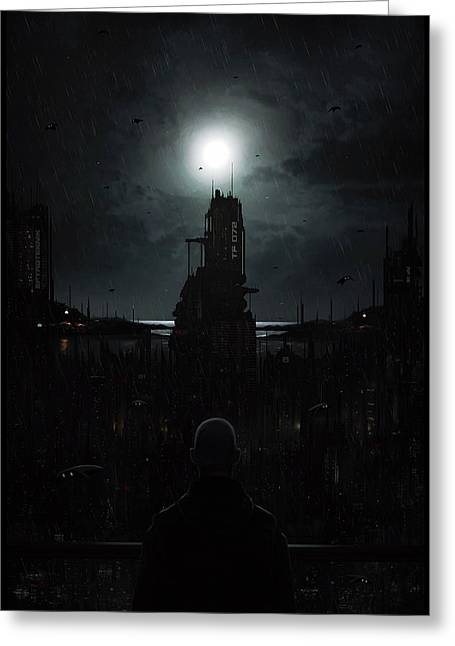 The Tenebrous Sprawl Greeting Card by Martin Bland