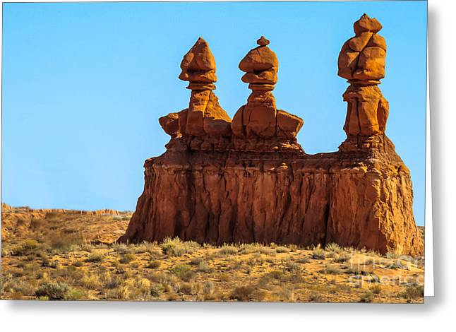 The Three Goblins Greeting Card by Robert Bales