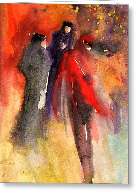 The Three Strangers From Paphos Greeting Card