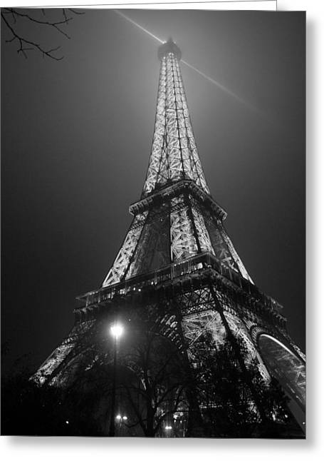 The Tower Ablaze Greeting Card by Humberto Laviera