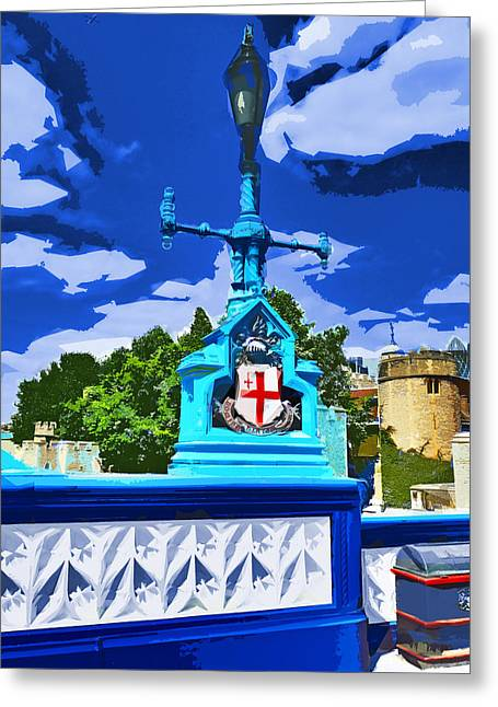 The Tower Lamp Post Greeting Card by Steve Taylor
