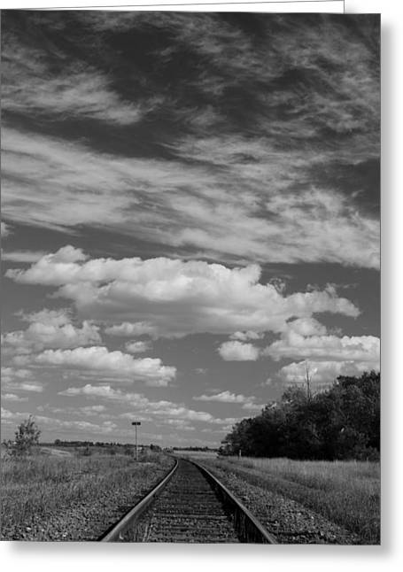 The Tracks Greeting Card by Ellery Russell