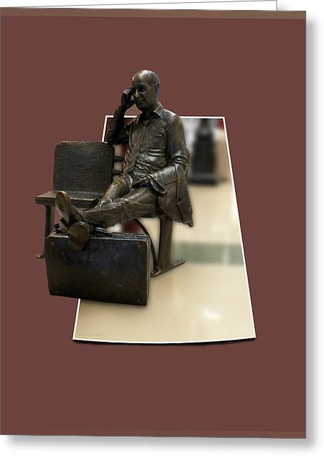 The Traveler Greeting Card by Thomas Woolworth