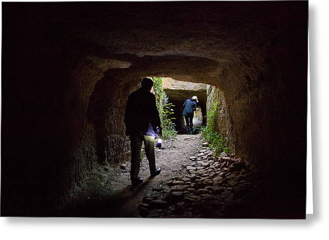 The Tunnels That The Water Greeting Card by Taylor S. Kennedy