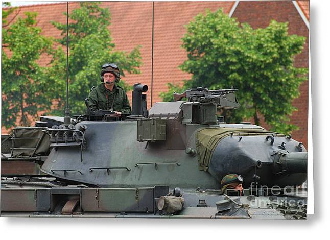The Turret Of The Leopard 1a5 Main Greeting Card by Luc De Jaeger