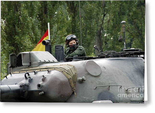 The Turret Of The Leopard 1a5 Mbt Greeting Card