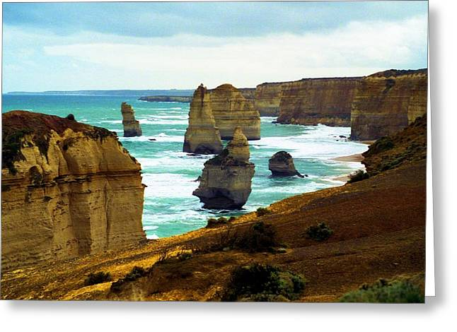 Greeting Card featuring the photograph The Twelve Apostles - Lost Apostle by Dennis Lundell