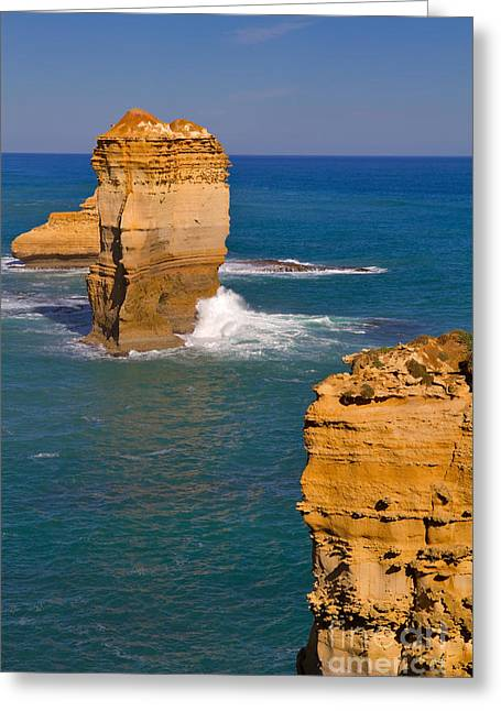 The Twelve Apostles In Port Campbell National Park Australia Greeting Card by Louise Heusinkveld