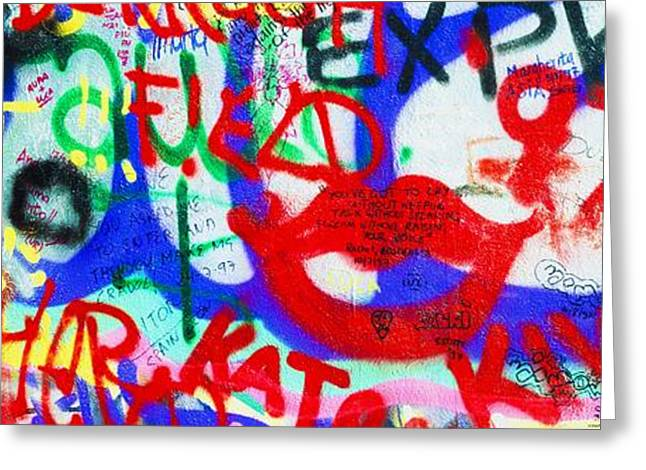 The U2 Wall, Windmill Lane, Dublin Greeting Card by The Irish Image Collection