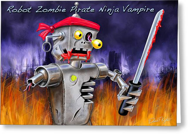 The Ultimate Nightmare  Greeting Card by David Kyte