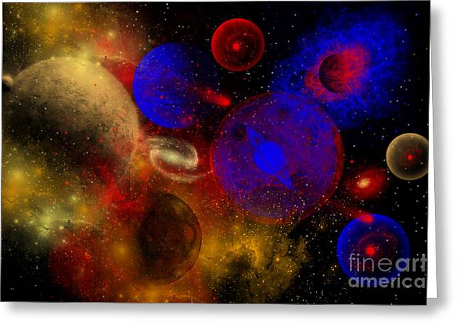 The Universe And Its Wondrous Colors Greeting Card by Mark Stevenson