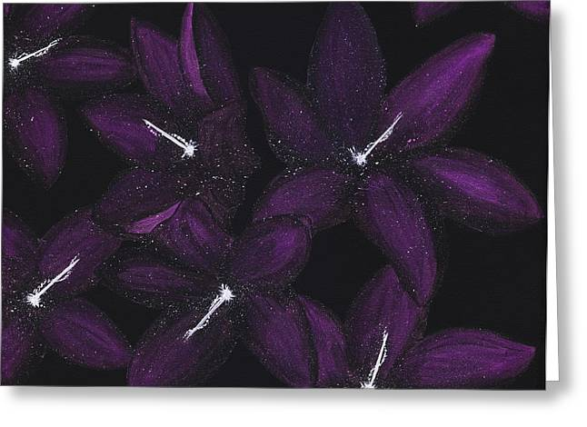 The Universe In Bloom Greeting Card by Lisa Orban