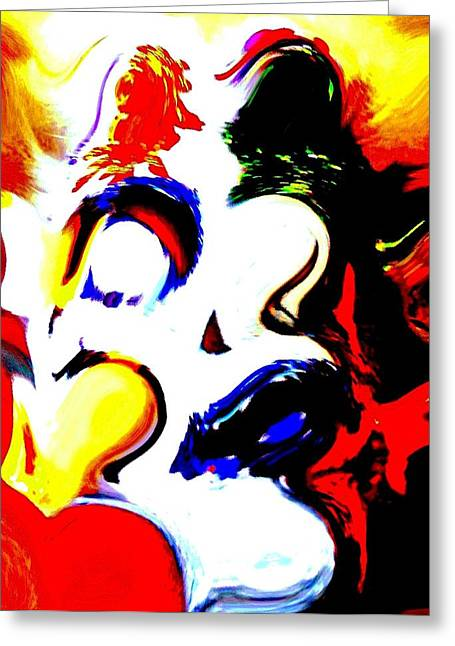 The Unmasking Of Youth Greeting Card by Jackie Bodnar