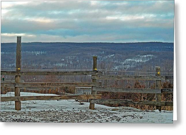 The Valley View Greeting Card by Cyryn Fyrcyd
