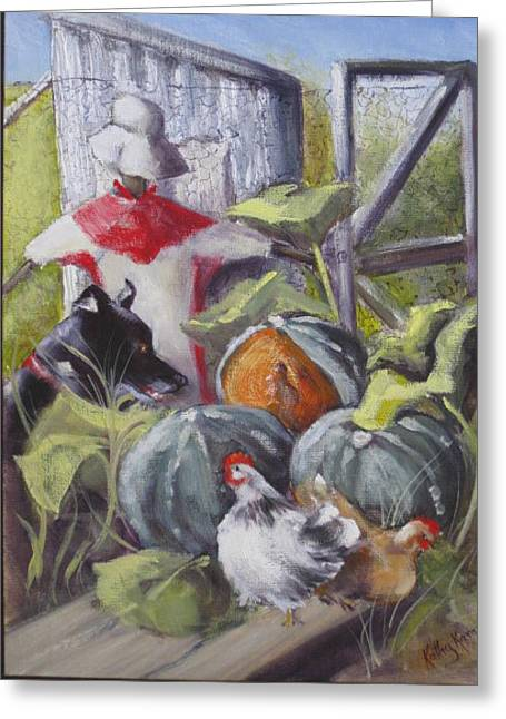 The Veggie Patch Greeting Card by Kathy  Karas