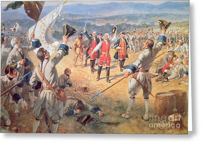 The Victory Of Montcalms Troops At Carillon Greeting Card by Henry Alexander Ogden