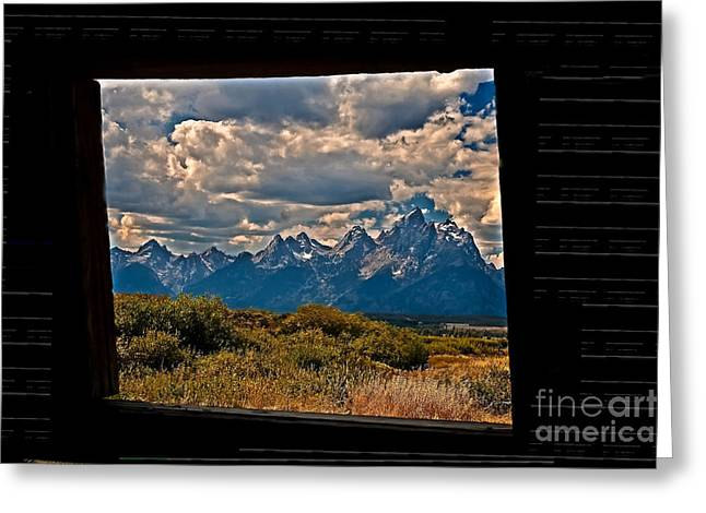 The View Greeting Card by Robert Bales