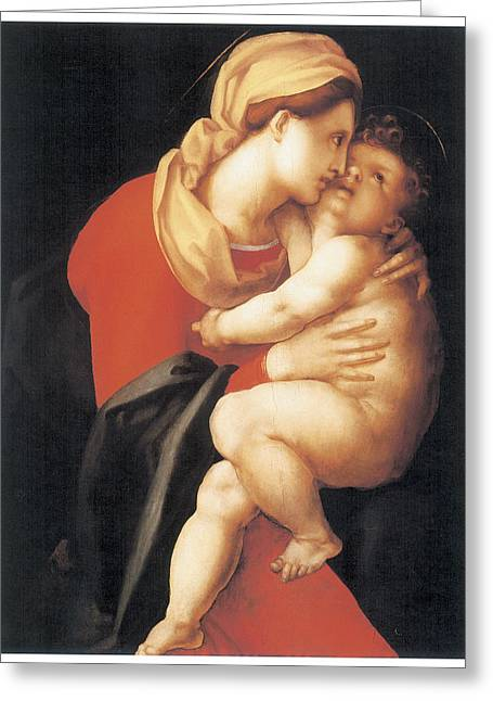 The Virgin And Child Greeting Card by Jacopo Da Pontormo