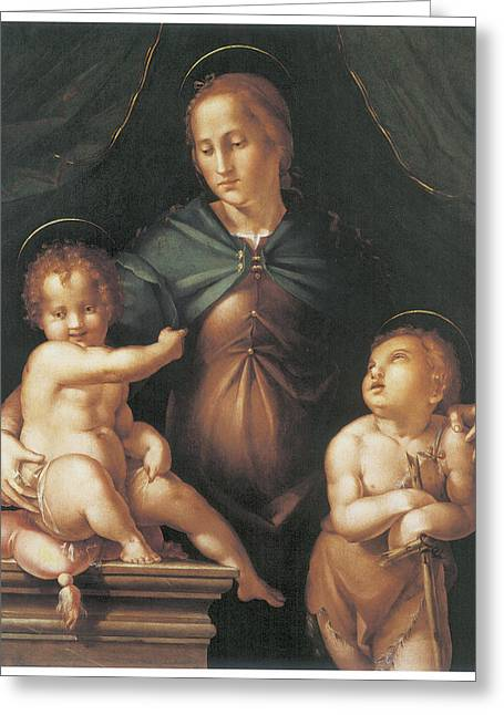 The Virgin And Child  Greeting Card by Pier Francesco Foschi