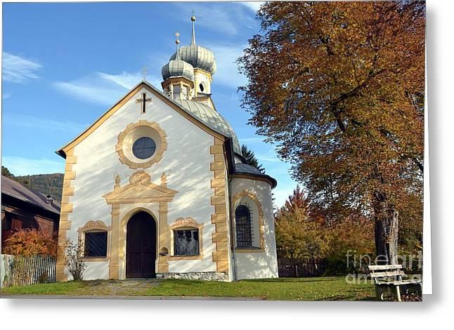 The Virgin Mary Church In Austria  Greeting Card