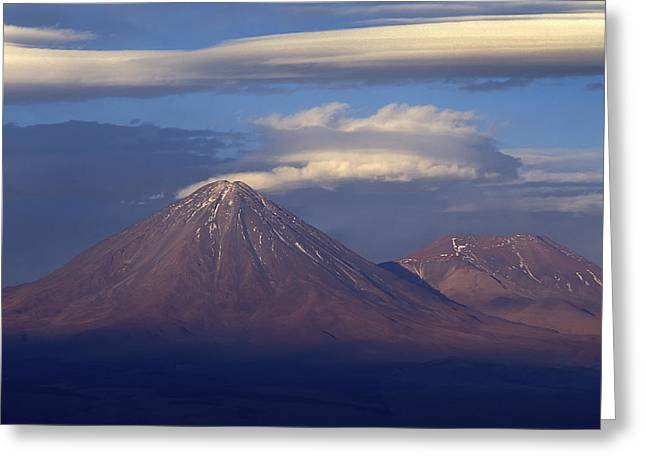 The Volcano Llicancabur. Republic Of Bolivia. Greeting Card by Eric Bauer