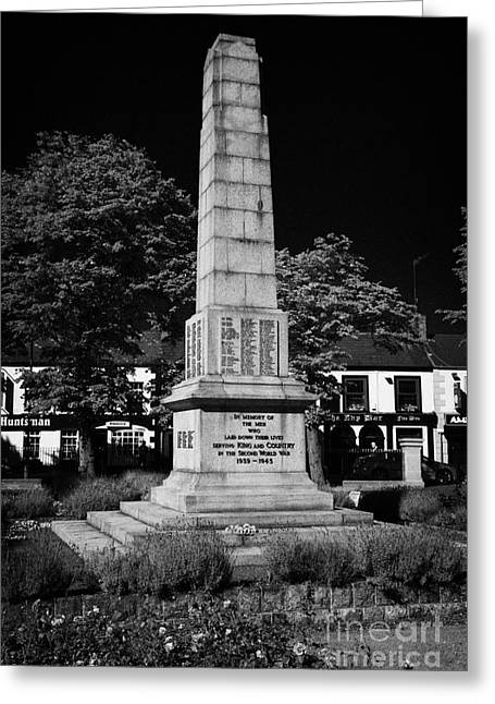 The War Memorial Newtownards County Down Northern Ireland Greeting Card by Joe Fox