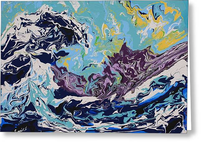 The Wave After Hokusai Greeting Card