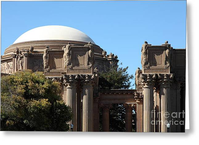 The Weeping Maidens Of The San Francisco Palace Of Fine Arts - 5d18305 Greeting Card by Wingsdomain Art and Photography