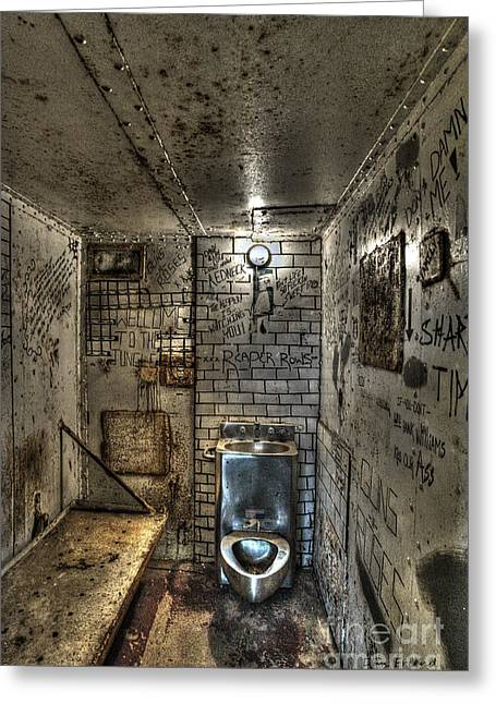 The West Virginia State Penitentiary Cell Greeting Card by Dan Friend