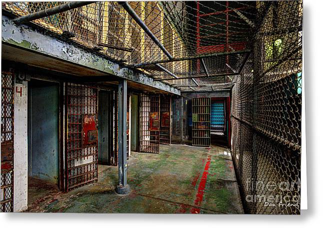The West Virginia State Penitentiary Cells Greeting Card by Dan Friend