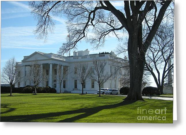 Greeting Card featuring the photograph The White House by Victoria Lakes