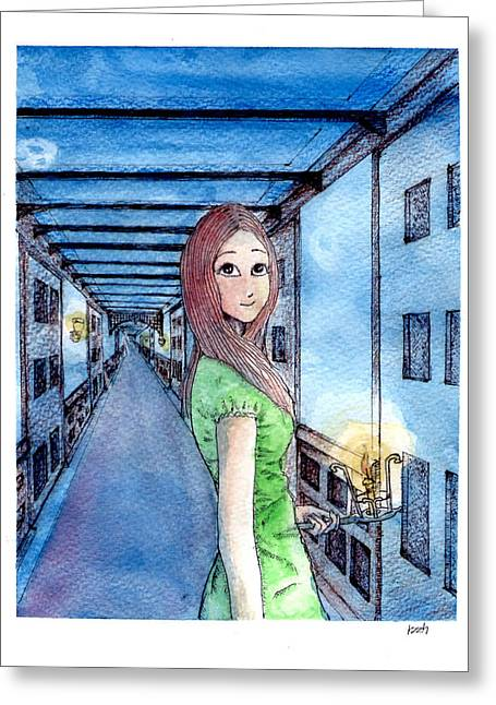 The Winchester Mystery House Greeting Card by Katchakul Kaewkate