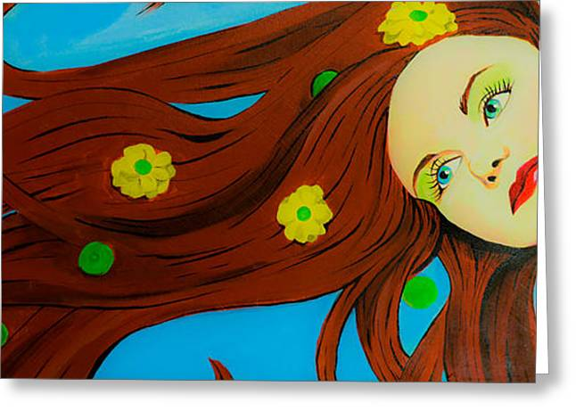 The Wind Blows A Kiss Greeting Card by Chris  Leon