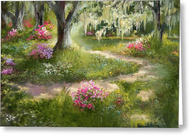 The Winding Path In Spring Greeting Card