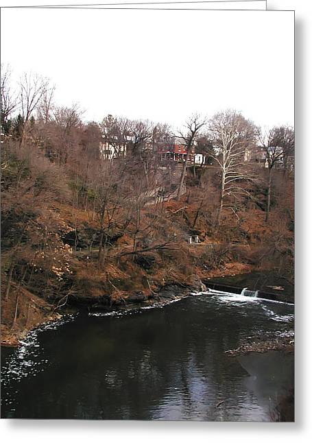 The Wissahickon At The Hundred Steps Greeting Card