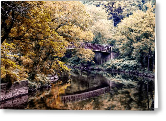 The Wissahickon Creek Along Lincoln Drive Greeting Card by Bill Cannon