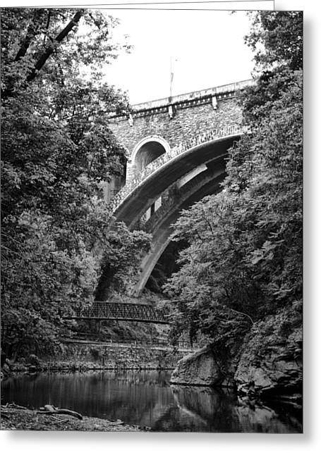 The Wissahickon Creek And Henry Avenue Bridge Greeting Card by Bill Cannon