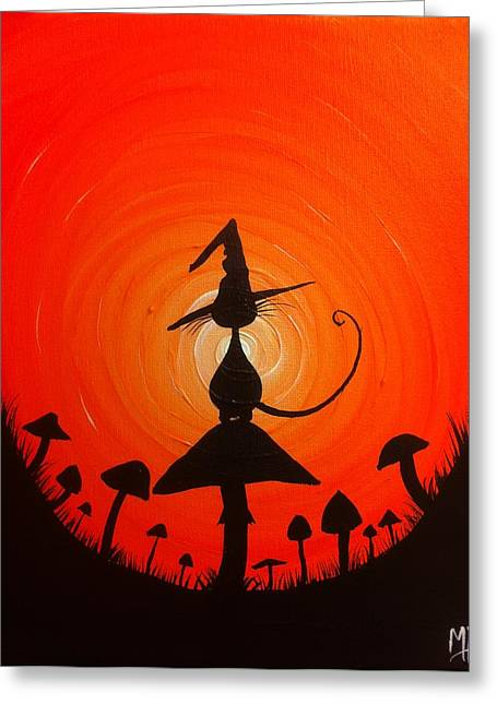 The Witches Hat Greeting Card by Michael Prosper