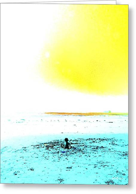 The World Is Your Sandbox Greeting Card by Brian D Meredith