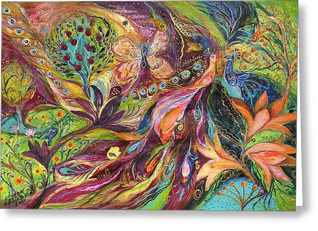 The World Of Lilies ...... The Original Can Be Purchased Directly From Www.elenakotliarker.com Greeting Card by Elena Kotliarker
