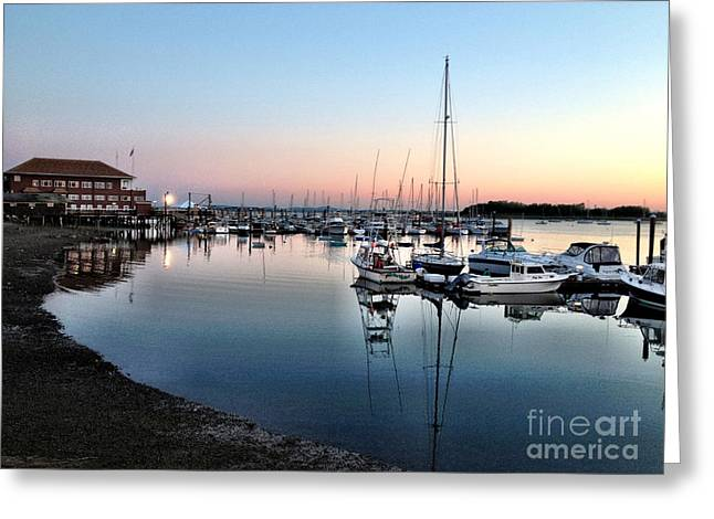The Yacht Club Greeting Card by Extrospection Art