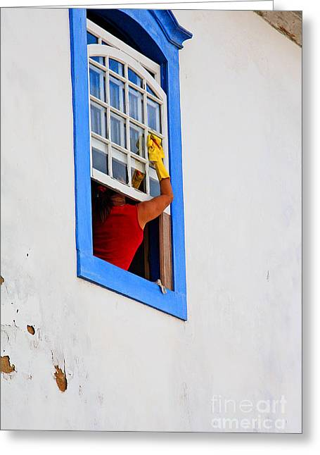 The Window Cleaner Greeting Card