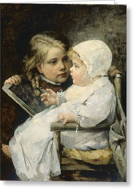 The Young Artist Greeting Card by Ellen Kendall Baker