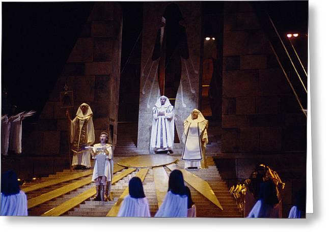 Verdi's Aida Greeting Card by Shaun Higson