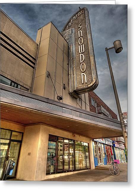 Theatre Snowdon Greeting Card by Elisabeth Van Eyken