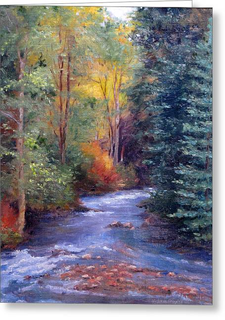 Thecreekearlyfall Greeting Card by Victoria  Broyles