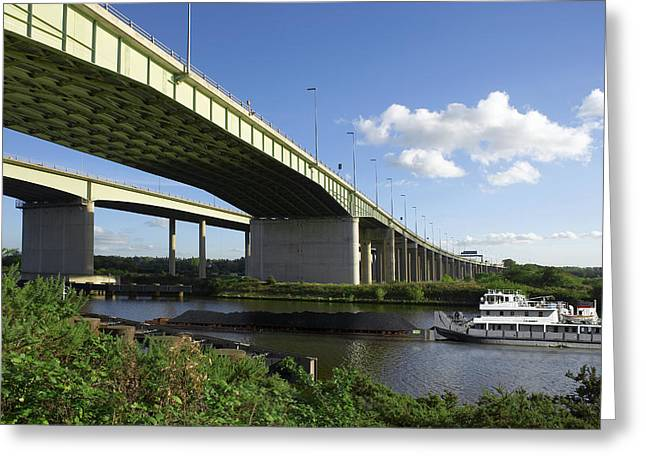 Thelwall Viaduct, Uk Greeting Card by Mark Sykes