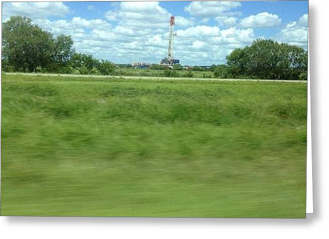 Them Texas Oil Rigs#insta #instapic Greeting Card