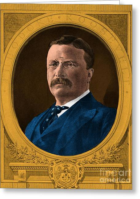 Theodore Roosevelt, 26th American Greeting Card by Science Source